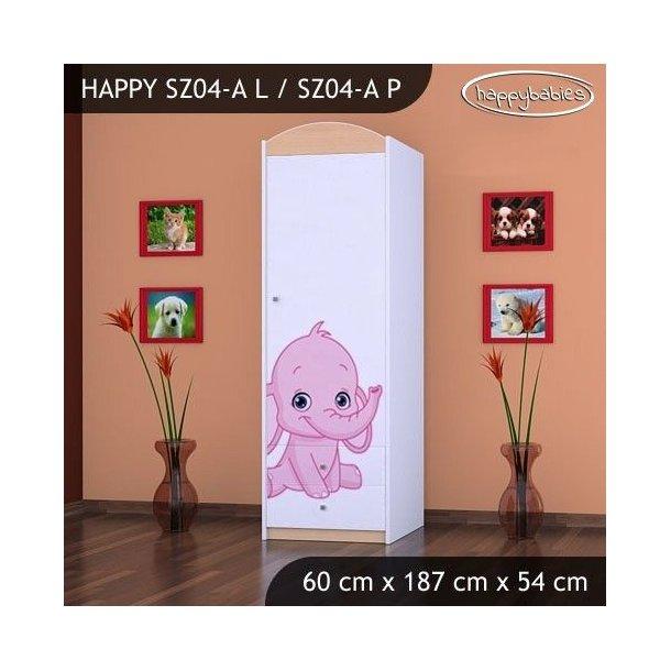 Dětská skříň SLONÍCI - TYP 4A