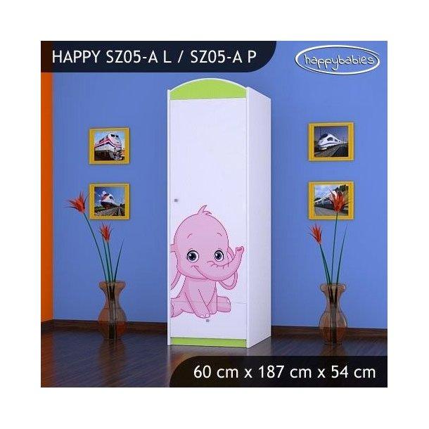 Dětská skříň SLONÍCI - TYP 5A