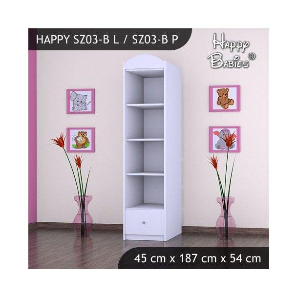 Dětská skříň - TYP 3B - bílá