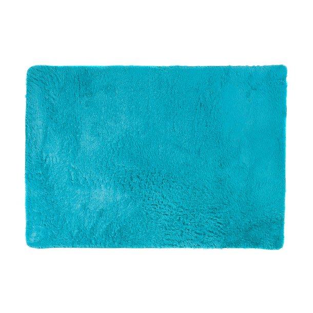 Plyšový koberec TOP - TYRKYSOVÝ