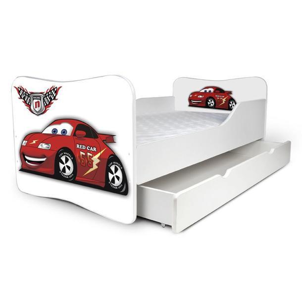 Dětská postel se šuplíkem RED CAR