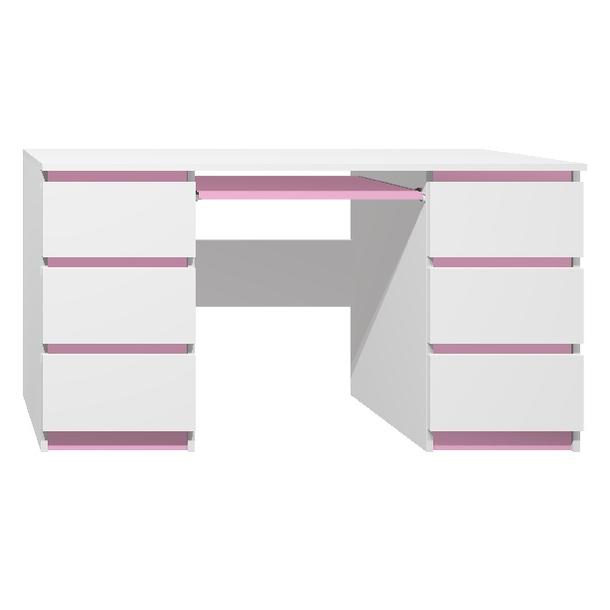 Psací stůl - CITY TYP B - růžová