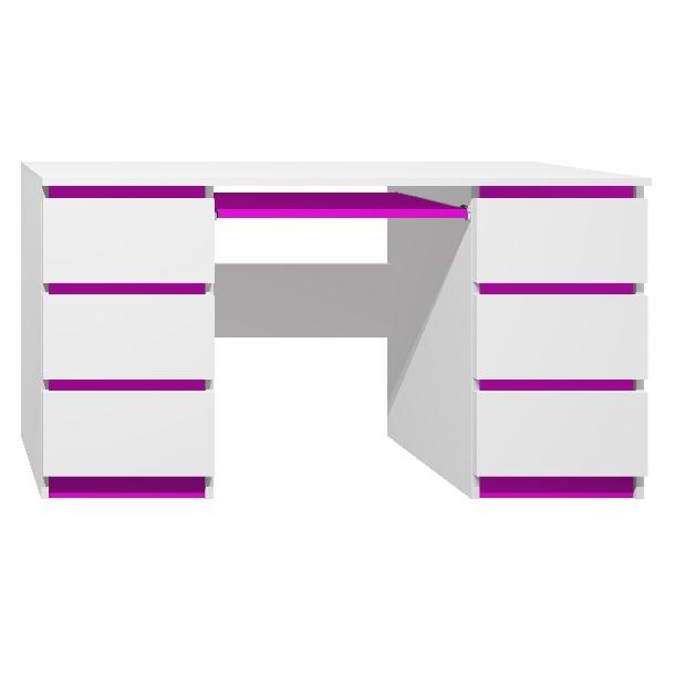 Psací stůl - CITY TYP B - tmavě fialová