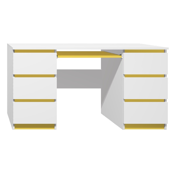 Psací stůl - CITY TYP B - žlutá