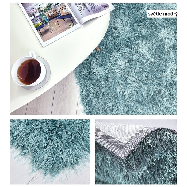 Kusový koberec Shaggy MAX inspiration - světle modrý