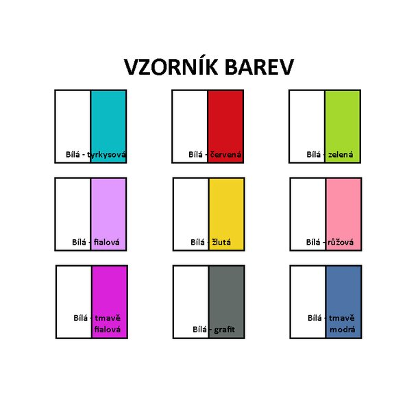 Vzorník barevného provedení