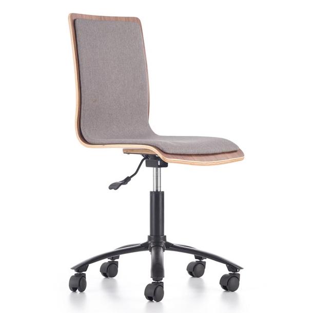 Dětská otočná židle JACK šedá/ořech