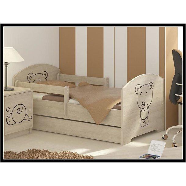 Dětská postel MÉĎA - přírodní 160x80 cm