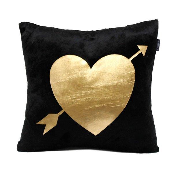 Polštář GOLD DREAM - srdce se šípem