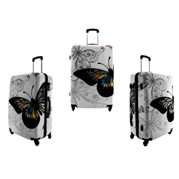 Cestovní kufry BUTTERFLY BÍLÉ
