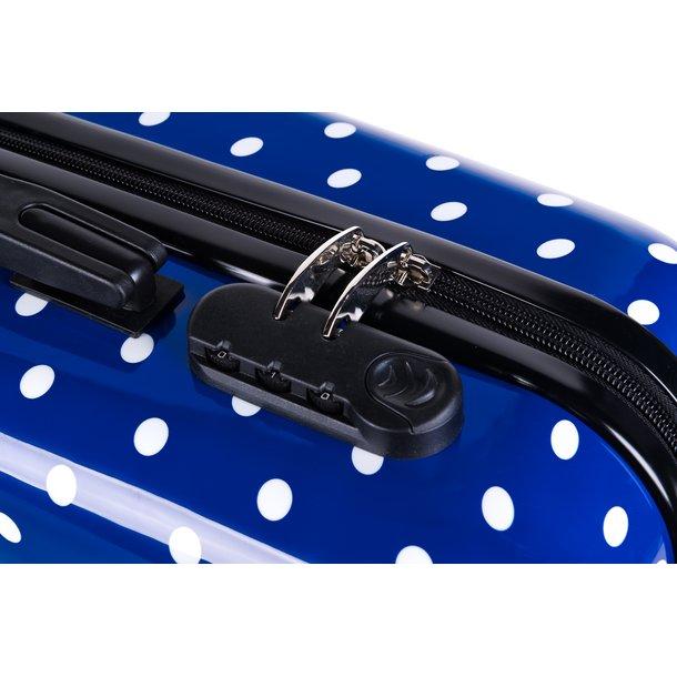 Cestovní kufry PUNTÍKY MODRÉ HIT