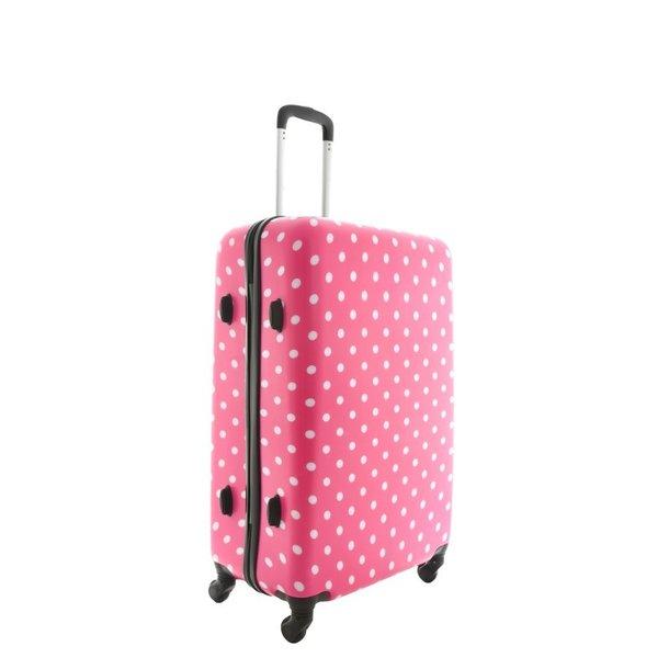 Cestovní kufr PUNTÍKY RŮŽOVÉ HIT
