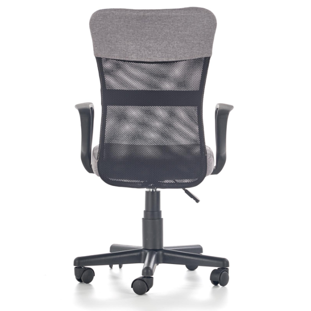 Dětská otočná židle TIMMY šedočerná
