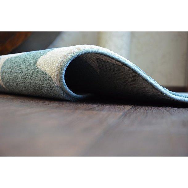 Moderní kulatý koberec HVĚZDY - modrý