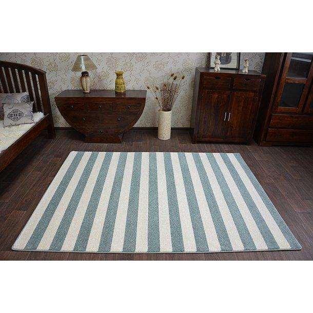 Moderní koberec PÁSKY - modrý