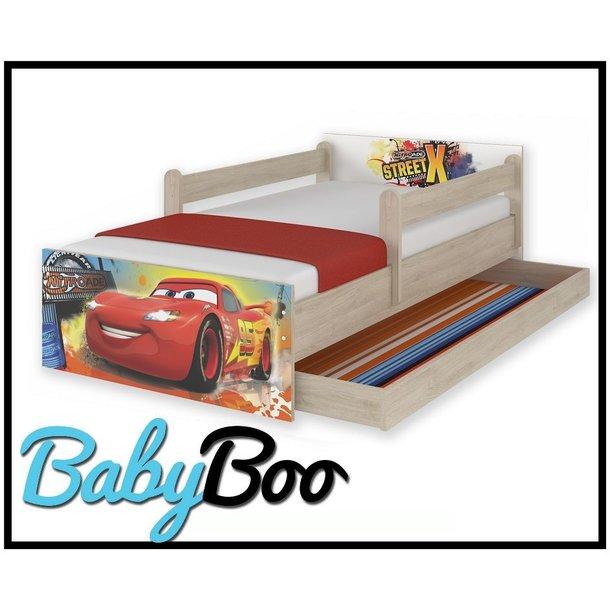 Dětská postel MAX se šuplíkem Disney - AUTA 160x80 cm
