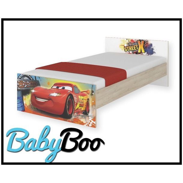 Dětská postel MAX bez šuplíku Disney - AUTA 160x80 cm