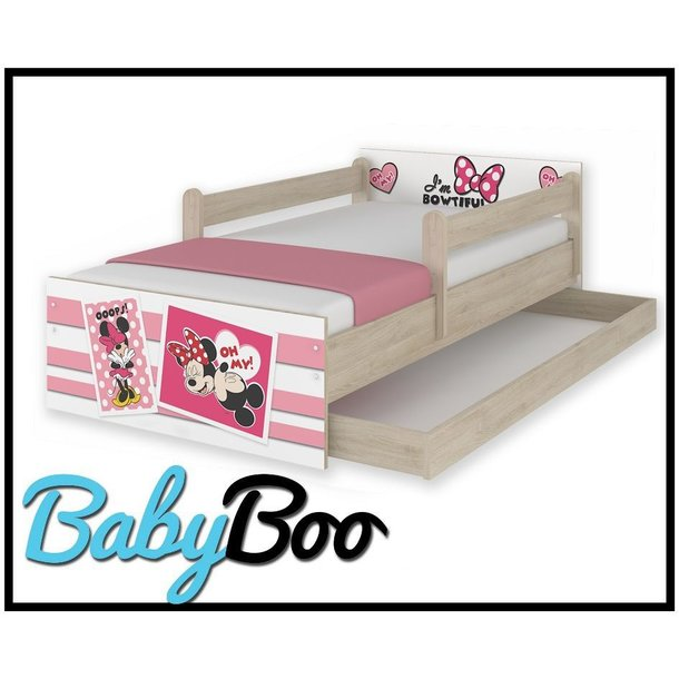 Dětská postel MAX se šuplíkem Disney - MINNIE II 160x80 cm