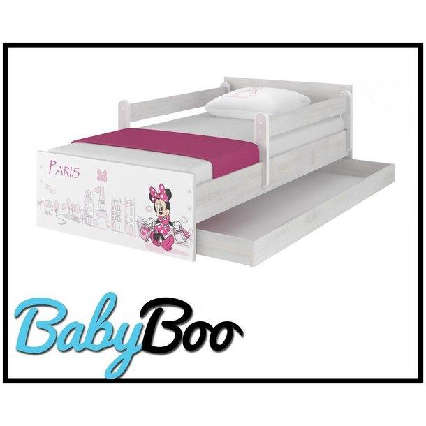 Dětská postel MAX bez šuplíku Disney - MINNIE PARIS 160x80 cm