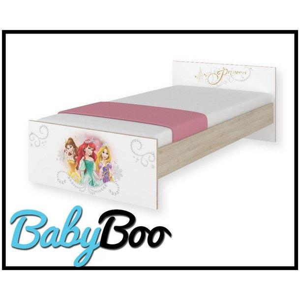SKLADEM: Dětská postel MAX bez šuplíku Disney - PRINCEZNY 160x80 cm