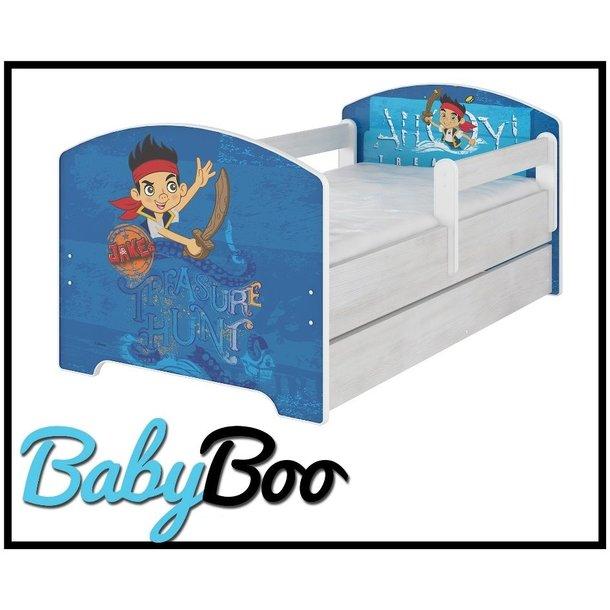 Dětská postel bez šuplíku Disney - JAKE A PIRÁTI 160x80 cm