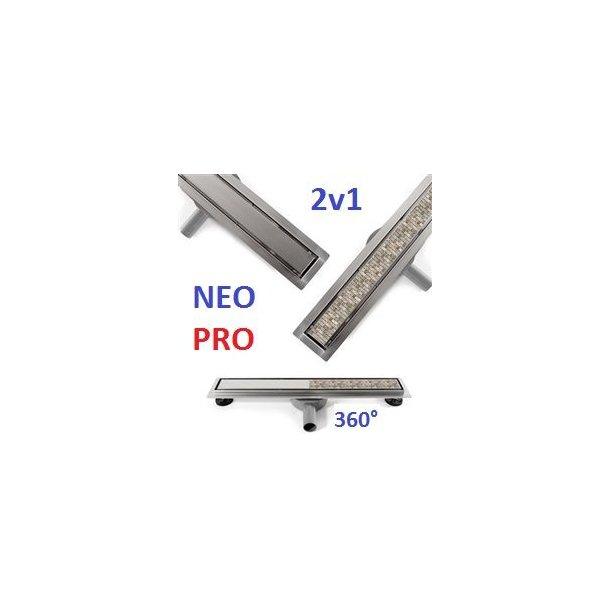 Odtokový sprchový žlab NEO 2v1 PRO 2