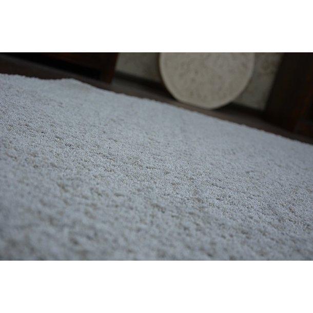 Kulatý koberec SHAGGY MINI - stříbrný
