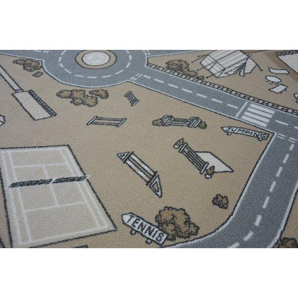 Dětský koberec STREET béžový - pogumovaný
