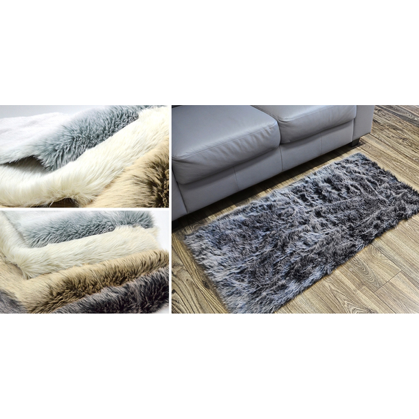 Kusový koberec ALJAŠKA - tmavě šedý