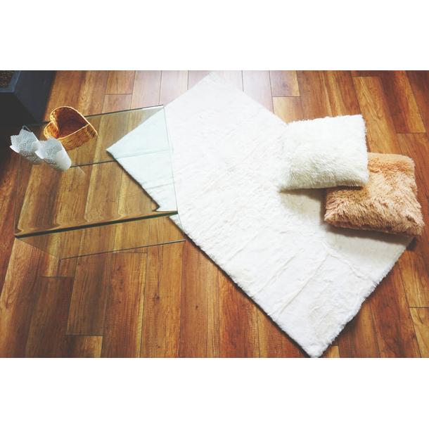 Kusový koberec FJORD - bílý - imitace králičí kožešiny
