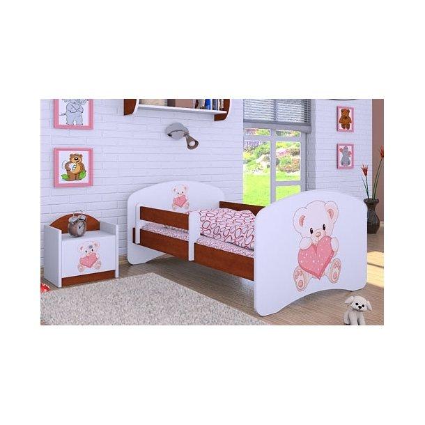 Dětská postel bez šuplíku 140x70cm MEDVÍDEK SE SRDÍČKEM