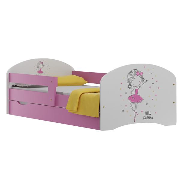 Dětská postel se šuplíky MALÁ BALERÍNA 160x80 cm