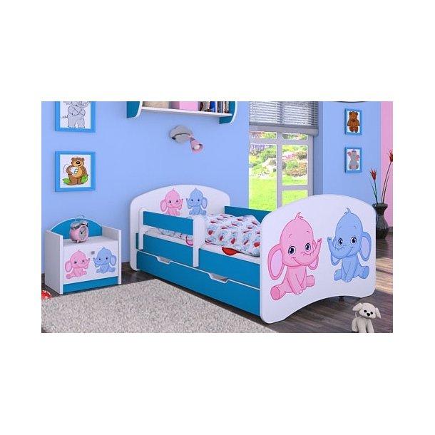 Dětská postel se šuplíkem 140x70cm SLONÍCI