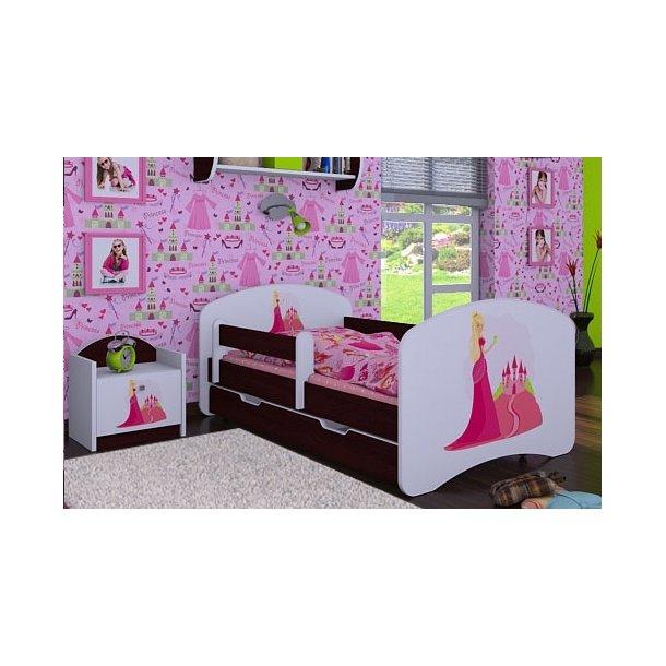 Dětská postel se šuplíkem 140x70cm PRINCEZNA A HRAD