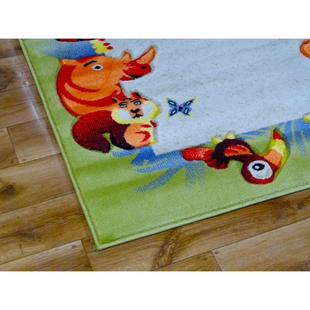 Dětský koberec ZOO krémový