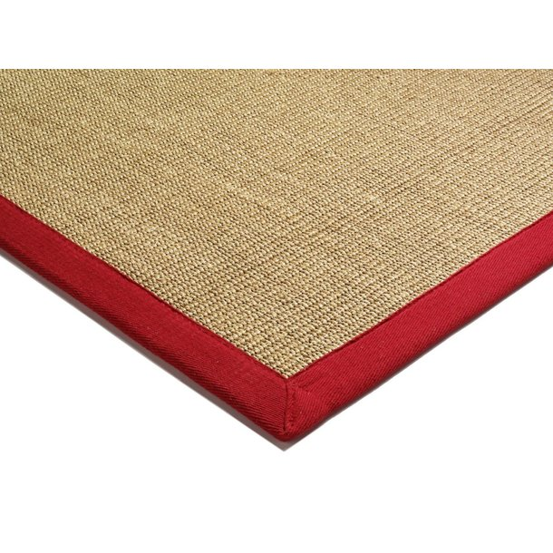 Koberec Asiatic Natural Weaves - SISAL Linen/Red - 160x230cm