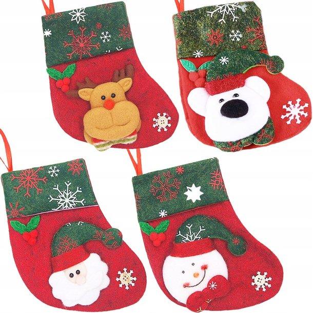Vánoční ponožka 4 ks