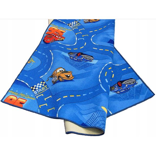 Dětský koberec CARS modrý