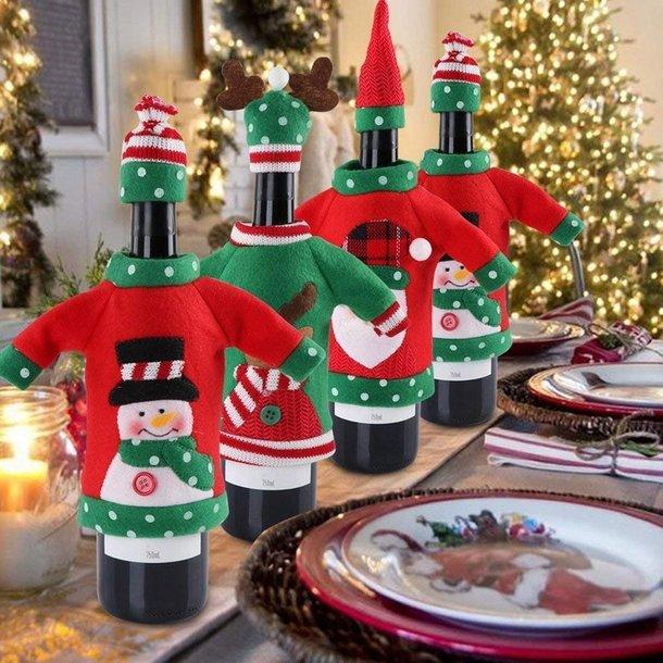 Vánoční svetřík na láhev