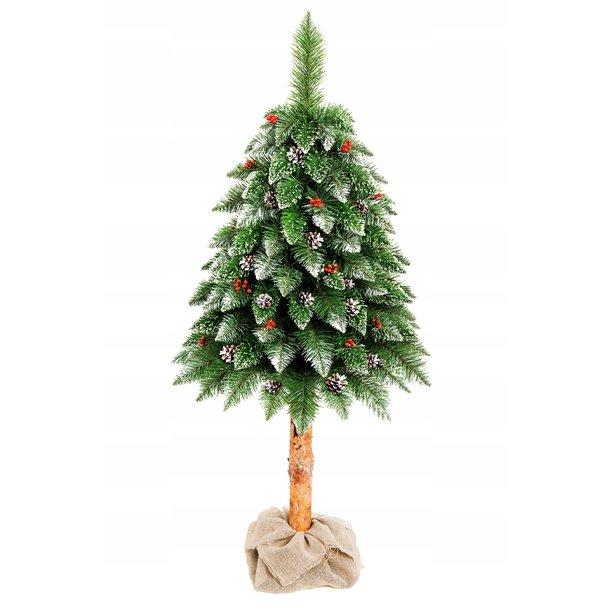 Vánoční stromek - diamantová borovice s jeřabinou 180 cm