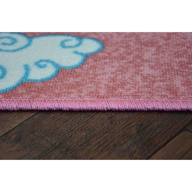 Dětský koberec Jednorožec s duhou - růžový