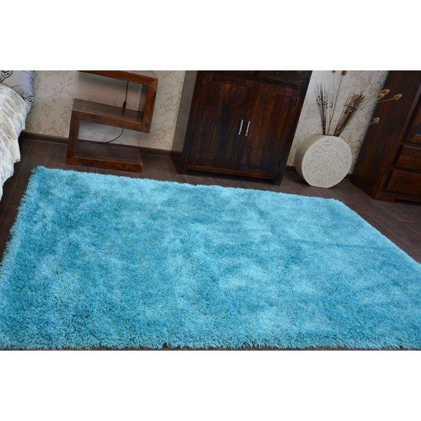 Kusový koberec SHAGGY MACHO tyrkysový