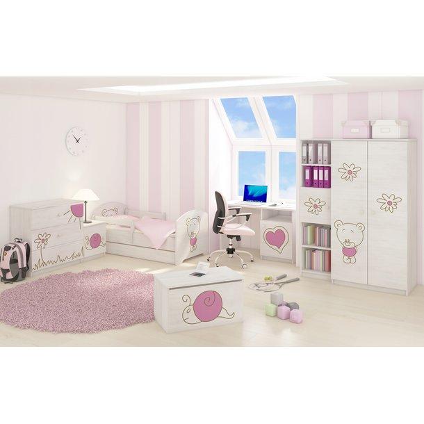 *** SKLADEM*** Dětská postel s výřezem MÉĎA - růžová 140x70 cm + matrace ZDARMA!