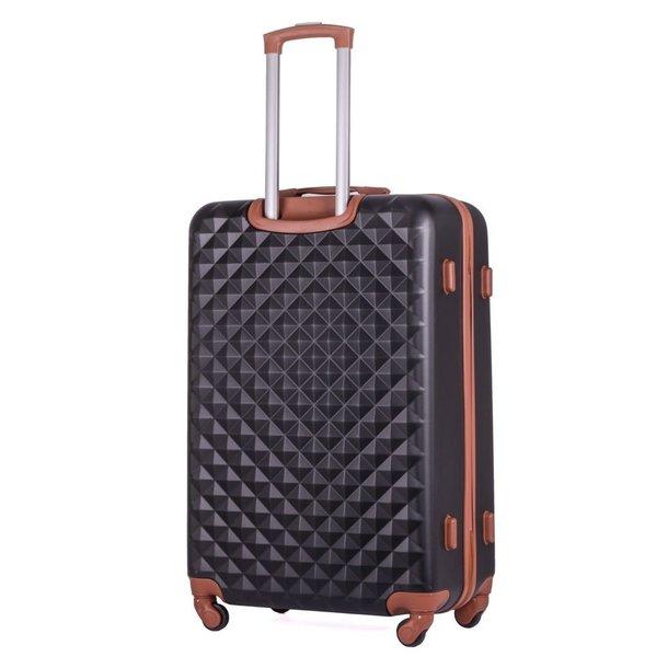 Moderní cestovní kufry SPIKE - černé