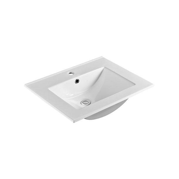 Nábytkové umyvadlo SLIM, 61x46x18 cm, keramické, bílé