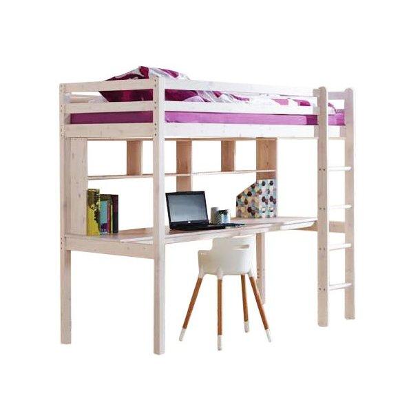 Dětská vyvýšená postel s psacím stolem KLEOPATRA 200x90 cm + matrace ZDARMA!