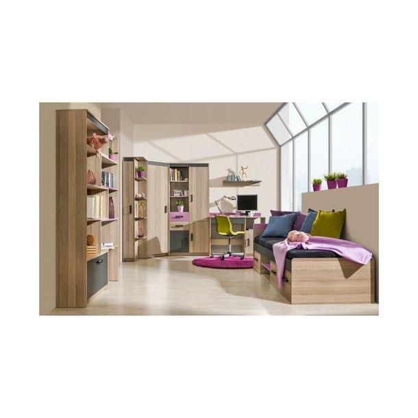 Dětská postel TIM U16 200x90 cm - 2v1 postel a stůl