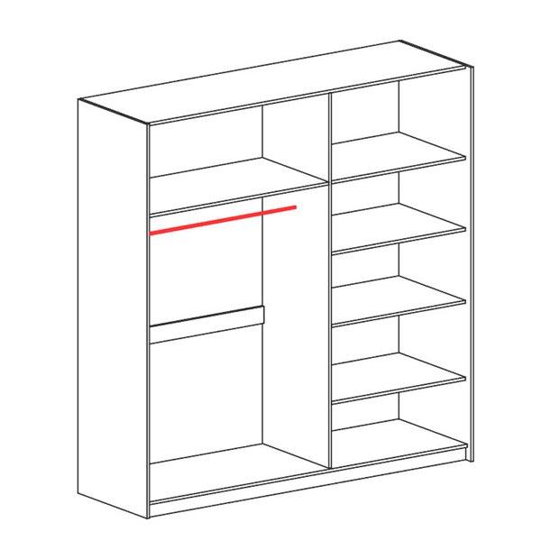 Šatní skříň VEKTOR V20 s posuvnými dveřmi