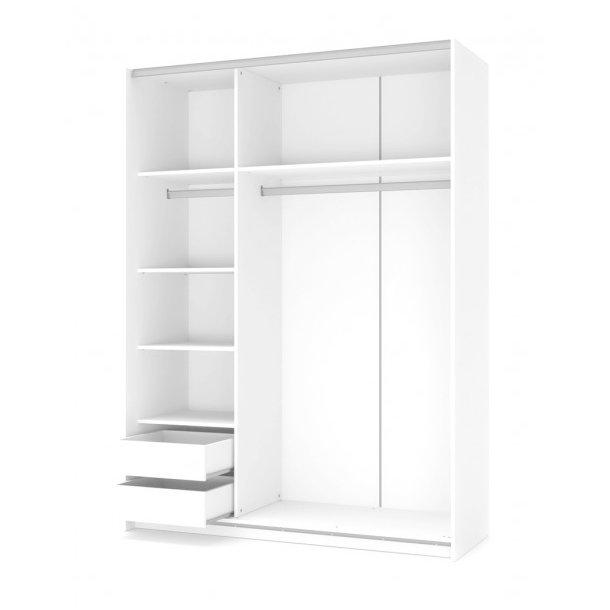 Šatní skříň LINA 1 s posuvnými dveřmi - dub sonoma/bílá