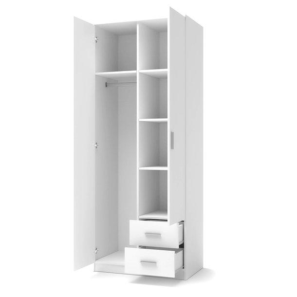 Šatní skříň LINA 2 - bílá